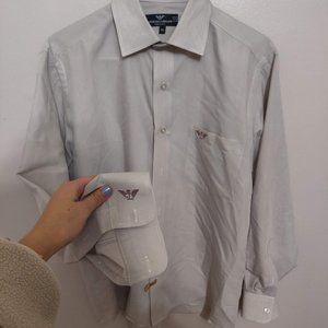 Men's 100% Fine Yarn Giorgio Armani Dress Shirt